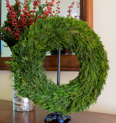 TUSCAN CYPRESS COUNTRY MANOR WREATH - 14""