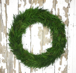 Tuscan Cypress Country Manor Wreath 24""