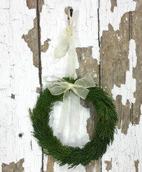 TUSCAN CYPRESS WREATH - ROUND W/ RIBBON - MIN. 3