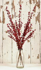"ILEX BERRY SPRAY - BURGUNDY - 28"" - MIN. 12"
