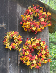 JEWELED MAPLE - 3 PC WREATH SET