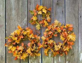 INDIAN SUMMER OAK - 3 PC WREATH SET