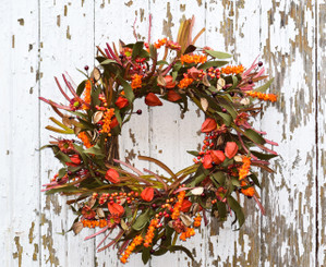 FALL MEADOW GRASS WREATH 22""