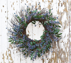 FRESH BLUEBERRY WREATH - 24""