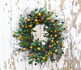 TUSCAN OLIVE WREATH - 24""
