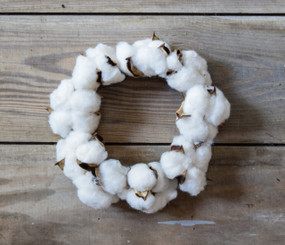 """FAUX COTTON CANDLE RING - 6"""""""