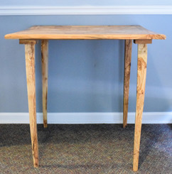 """Olive Wood Side Table - Straight - 32 X 32"""""""