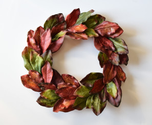JEWELED MAGNOLIA WREATH - 24""