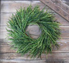 LEEK GRASS WREATH 18""