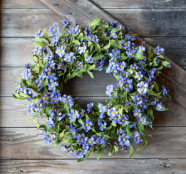 "FORGET ME NOT 26"" WREATH"
