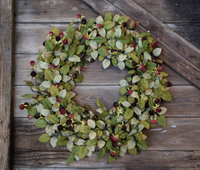 BLACKBERRY BUSH WREATH 26""