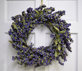 Soft Berry Wreath - Blueberry - 24""