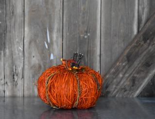 PUMPKIN ORANGE SISAL SM 7 X 6.3
