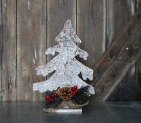 WHITE BIRCH ICED TREE - 13""