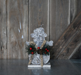 WHITE BIRCH ICED SNOWMAN - 7.5""
