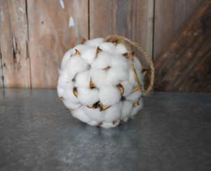 FAUX COTTON BALL 4.5""