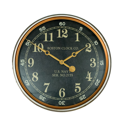 WALL CLOCK - NAVY