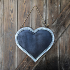 "BLACKBOARD HEART - MD - 15"" x 13.7"""