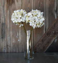 FAUX HYDRANGEA SPRAY - CREAM - 18""