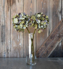 FAUX HYDRANGEA SPRAY - GREEN - 18""