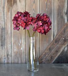FAUX HYDRANGEA SPRAY - RED - 18""