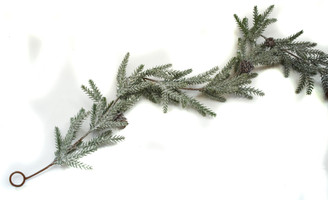 WINTER ICED PINE GARLAND - 5.5'