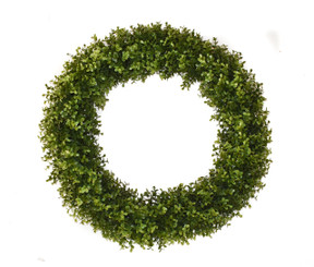 FAUX BOXWOOD ROUND WREATH - 22""