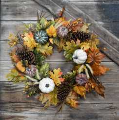 AUTUMN HARVEST WREATH - 24""