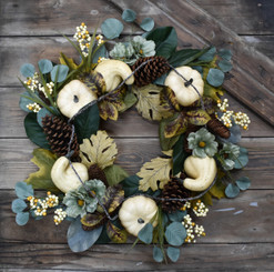 GLORIOUS GOURDS WREATH - 24""