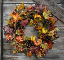 AUTUMN SPLENDOR WREATH - 22""