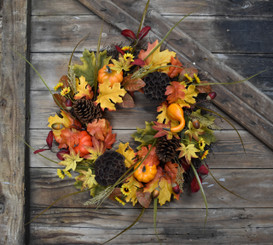 FALL FESTIVAL WREATH - 22""