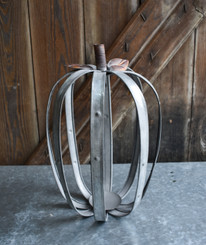 GALVANIZED PUMPKIN TALL  7.75 X 13.75""