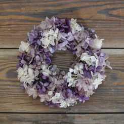 PRES HYDRANGEA RING - PURPLE/WHITE 6.5""