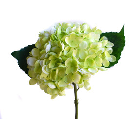 FAUX HYDRANGEA PICK - LIME GREEN - 13""