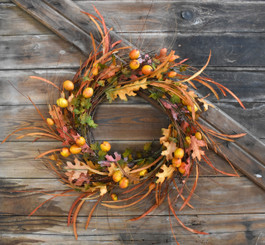 FALL PERSIMMON WREATH