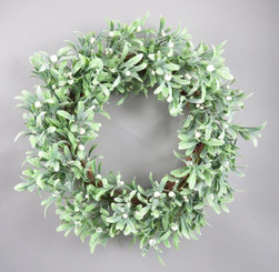 MERRY MISTLETOE WREATH 26""