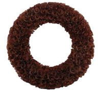 Wood Curl Wreath - Large - Chocolate - 20""