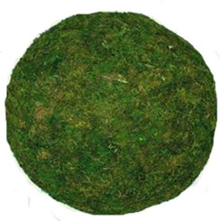 "MOSS BALL - GREEN - 12"" LARGE - PACKED 2"