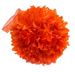 "Fluffy Ball - 16"" - Orange"