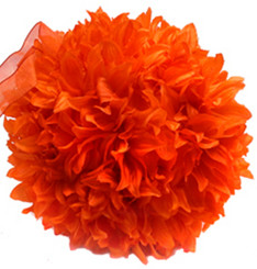 FLUFFY BALL - ORANGE - 6""
