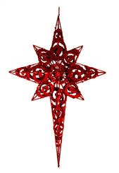 """Metal Glitter Star - Red - 19"""""""