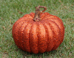 Glitter Pumpkin - Large - 9""