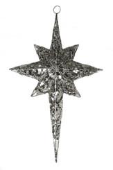 """Metal Glitter Star - Silver - 22.5"""""""