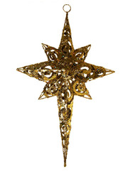METAL GLITTER STAR - GOLD - 19""