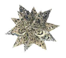 "Metal Glitter Snowflake - Silver - 12"""