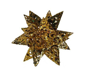 "Metal Glitter Snowflake - Gold - 10"""