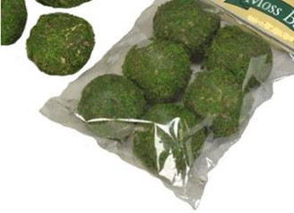 "MOSS BALL - GREEN - 2"" - 6 PC PKGS/6 PKGS"