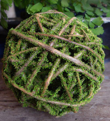 "CURLY WILLOW BALL - MOSS COATED - 4"" BALL - 9 BALLS/CS"