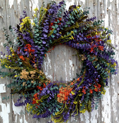 EUCALYPTUS WREATH - SUMMER BOUQUET - 24""