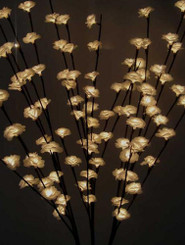 LED Branches - White Flowers Electric - 47""
